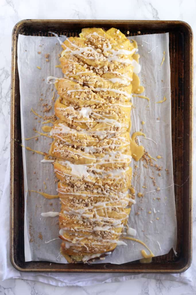 Pumpkin Cheesecake Braid