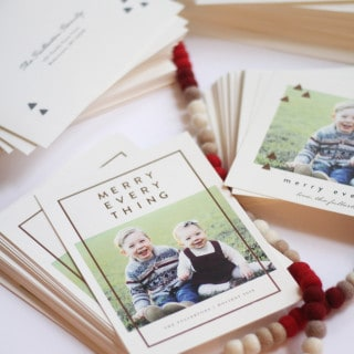 Holiday Card sneak peek and a Minted giveaway!