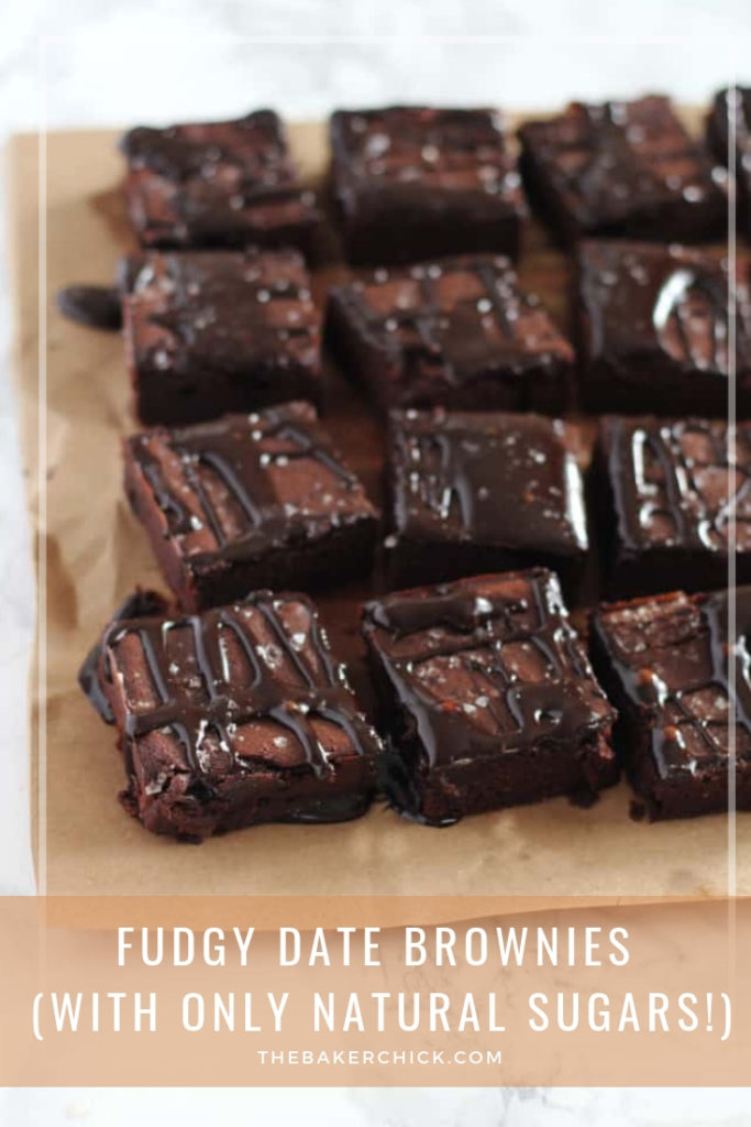 Fudgy Brownies sweetened only with dates! No sugar and SO good!