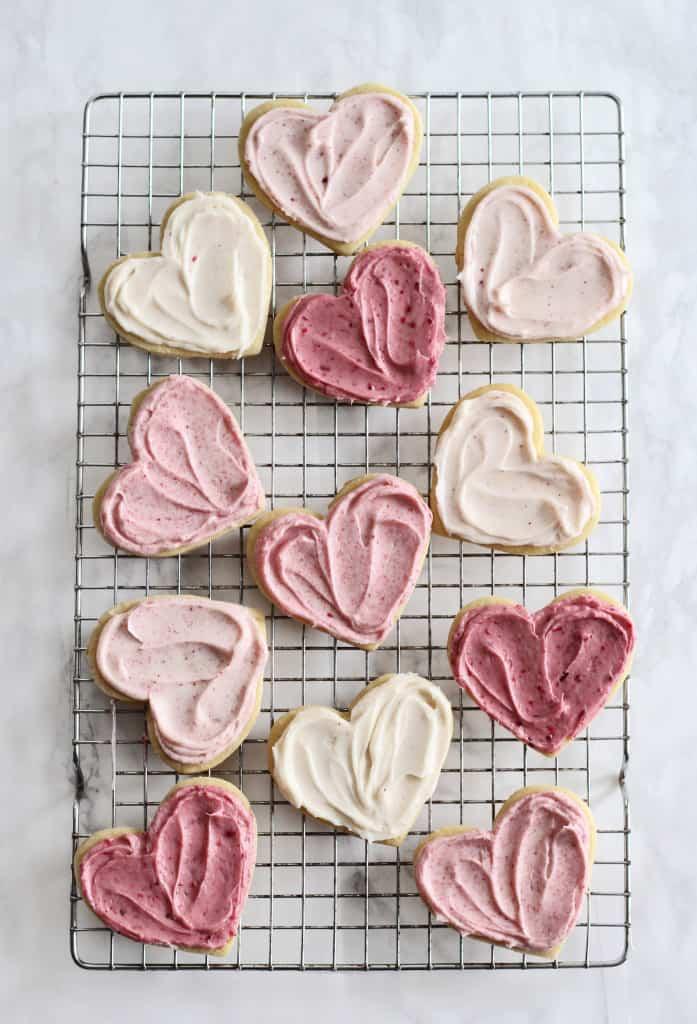 Ombré Raspberry Lemon Sugar Cookies