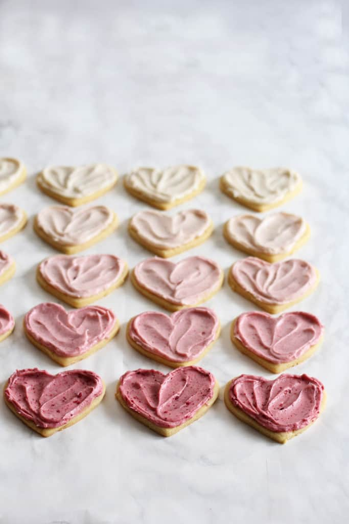 Ombré Raspberry Lemon Sugar Cookies