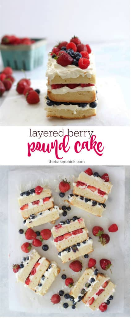 Layered Berry Pound Cake