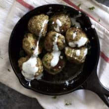 Greek Turkey Lentil Meatballs