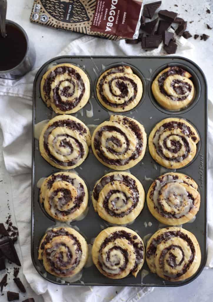 Dark Chocolate Swirl Buns