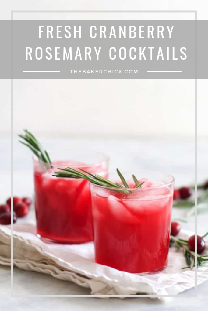 Fresh Cranberry Rosemary Cocktails