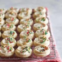Salted Caramel Frosted Sugar Cookies