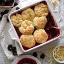 Blackberry Cobbler with Sweet Corn Biscuits