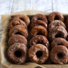 Pumpkin Sour Cream Donuts