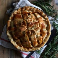 Rosemary Apple Pie