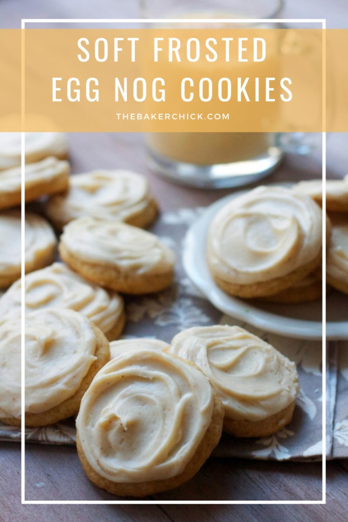 Soft Frosted Eggnog Cookies The Baker Chick