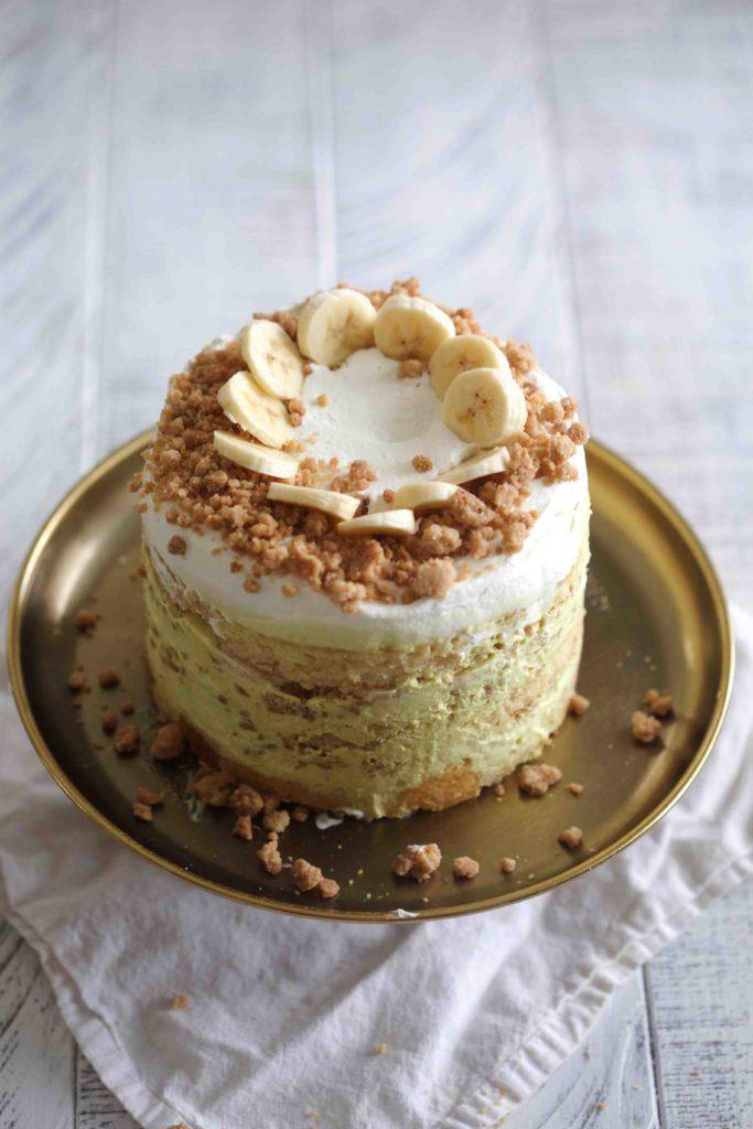 Groovy Banana Pudding Layer Cake Funny Birthday Cards Online Elaedamsfinfo