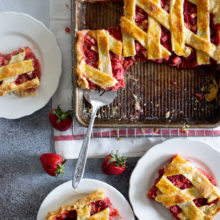 Strawberry Rhubarb Slab Pie