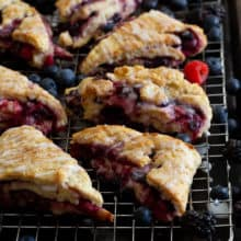 Layered Berry Scones