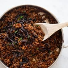 Mama's Mujadara (Lentils, Rice & Crispies!)